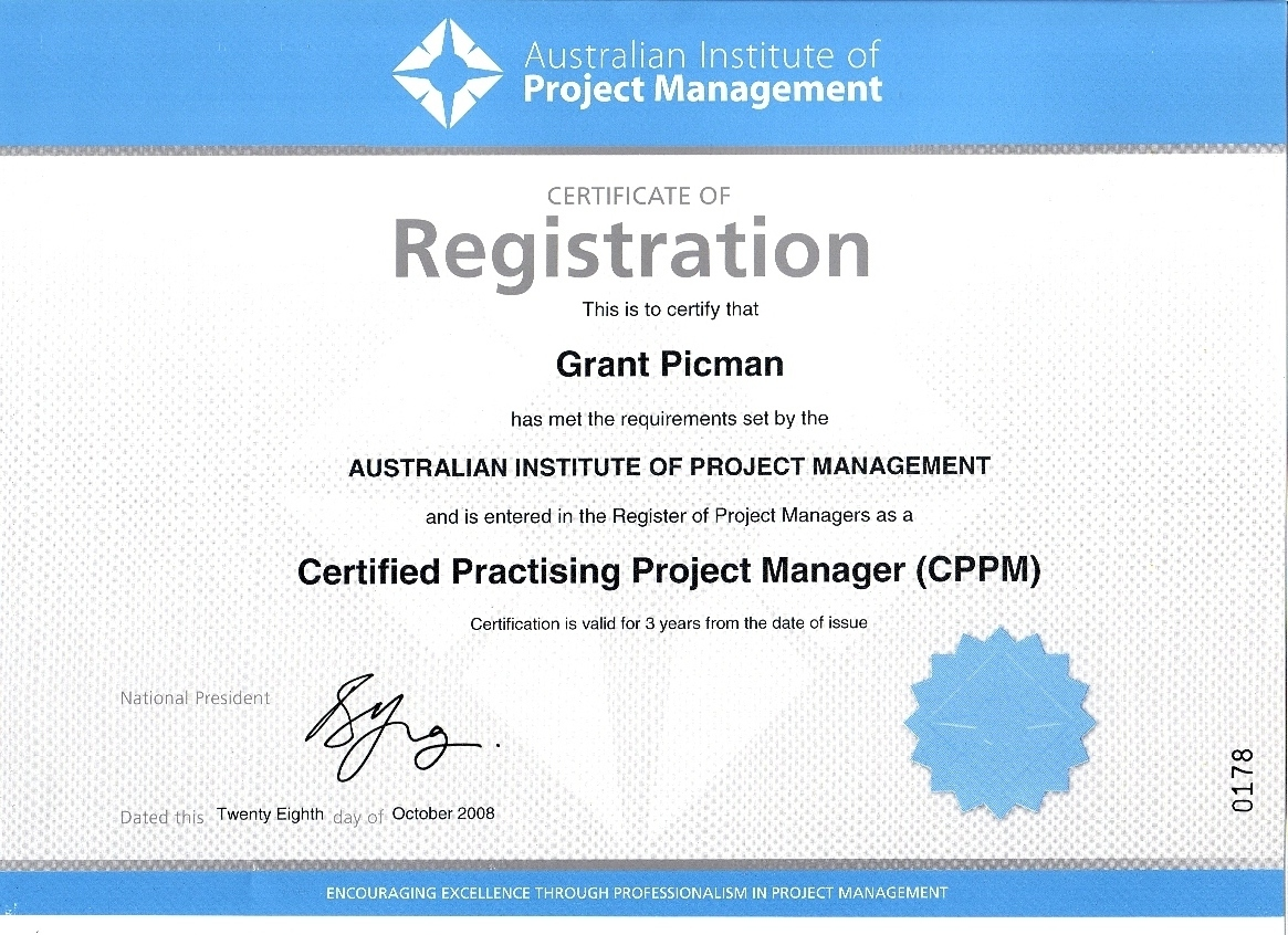 Certificates certified practising project manager xflitez Images